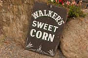 Sign, Walker's Roadside Stand, Little Compton, Rhode Island.
