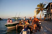 The Split, Caye Caulker island in the afternoon light, Belize.