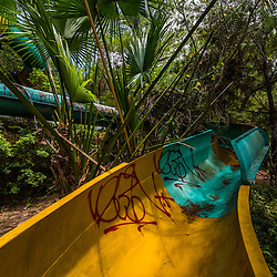 Nestled in a forest setting in central Vietnam, Ho Thuy Tien water park was reportedly opened in a half-finished state by hue tourism company in 2004. Shortly after, the park closed its doors and had been given back to nature to become a bizzare sight for inquisitive backpackers and weekenders of Hue's royal city.