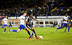 Joe Dodoo of Leicester City scores his sides fourth goal and his hat-trick - Mandatory byline: Matt McNulty/JMP - 07966386802 - 25/08/2015 - FOOTBALL - Gigg Lane -Bury,England - Bury v Leicester City - Capital One Cup - Second Round