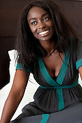 Cannes, France. May 13th 2010..French actress Aissa Maiga at the Gray d'Albion Hotel.