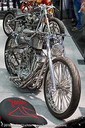 Rumble Racer built by Koh of Suicide Customs in Anjyo City, Japan took the highest honors as Grand Champion in the AMD World Championship of Custom Bike Building in the custom themed Hall 10 AMD World Championship of Custom Bike Building show in the custom dedicated Hall 10 at the Intermot Motorcycle Trade Fair. Cologne, Germany. Saturday October 8, 2016. Photography ©2016 Michael Lichter.