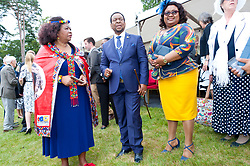 © Licensed to London News Pictures. 22/07/2019. Llanelwedd, Powys, UK. King Goodwill Zwelithini kaBhekuzulu (King of the Zulus) and Queen Pumi, head of the Zulu nation, are invited to attend  the Royal Welsh Agricultural Show. The Royal Welsh Agricultural Show is hailed as the largest & most prestigious event of its kind in Europe. In excess of 200,000 visitors are usually expected for the annual four day show period. The Royal Welsh Agricultural Society was founded in 1904. Photo credit: Graham M. Lawrence/LNP