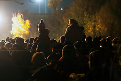 Š Licensed to London News Pictures. 23/10/2015. Spielfeld, Austria. Migrants are waiting at the checkpoint in Spielfeld, Austria at a border crossing between Austria and Slovenia. Photo: Marko Vanovsek/LNP