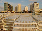 Miami south beach early morning before the chairs are set up