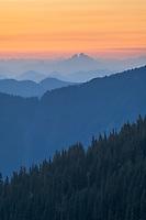 Twilight over North Cascades from Skyline Divide Mount Baker Wilderness washington