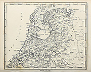 18th Century ancient map of Holland, Copperplate engraving From the Encyclopaedia Londinensis or, Universal dictionary of arts, sciences, and literature; Volume X;  Edited by Wilkes, John. Published in London in 1811