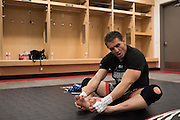 Houston, Texas - February 19, 2016: Ken Shamrock warms up before fighting against Royce Gracie during Bellator 149 at the Toyota Center in Houston, Texas on February 19, 2016. (Cooper Neill for ESPN)