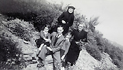 three generation family portrait rural France 1950
