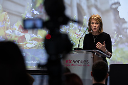 "© Licensed to London News Pictures. 07/01/2019. Manchester, UK. Deputy Mayor BEVERLEY HUGHES . The Metro Mayor of Greater Manchester Andy Burnham announces a revised plan for new housing (some on greenbelt land) , transport infrastructure , the reduction of pollution and improvements to the environment across the North West , alongside the regeneration of Stockport Town Centre , at an event at etc Venues in Manchester City Centre . The new "" Spatial Framework "" also reaffirms the region's commitment to ban fracking and lists 50,000 new "" affordable "" homes (30,000 of which are specified as social housing) . Photo credit: Joel Goodman/LNP"