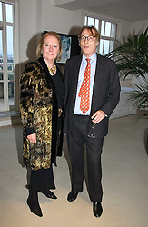 Writer SARAH BRADFORD and her husband the 8th VISCOUNT BANGOR at a party to celebrate the publication of Diana by Sarah Bradford held at 80 The Strand, London on 27th September 2006.<br />