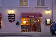 l'ecusson restaurant rue fg madeleine beaune cote de beaune burgundy france