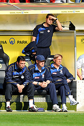 14.05.2011, Signal Iduna Park, Dortmund, GER, 1.FBL, Borussia Dortmund vs Eintracht Frankfurt, im Bild Frankfurter Bank mit Christoph Daum (Trainer Frankfurt) beim 3-1 fuer Dortmund //  during the German 1.Liga Football Match,  Borussia Dortmund vs Eintracht Frankfurt, at the Signal Iduna Park, Dortmund, 14/05/2011 . EXPA Pictures © 2011, PhotoCredit: EXPA/ nph/  Conny Kurth       ****** out of GER / SWE / CRO  / BEL ******