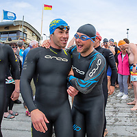 Ryan Shannon, who took first place, before the swim at Lahinch on Sunday