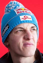 18.03.2010, Triglav, Planica, SLO, FIS SKI Flying World Championships 2010, Presskonference OeSV, im Bild SCHLIERENZAUER Gregor ( AUT, #69 ), Portrait, EXPA Pictures © 2010, PhotoCredit: EXPA/ J. Groder / SPORTIDA PHOTO AGENCY