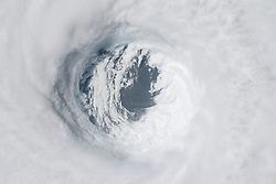 October 10, 2018 - Houston, TX, United States of America - View from the International Space Station of Hurricane Michael as it churns strikes the Panhandle of Northwest Florida as a Category 4 storm with 145mph winds and heavy rain October 10, 2018 in Earth Orbit. (Credit Image: © Nasa via ZUMA Wire)