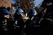 Clashes between students and police at 'La Sapienza' University, Rome, December 12, 2013. Christian Mantuano / OneShot