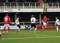 Photo: Mark Stephenson/Sportsbeat Images.<br /> Hereford United v Darlington. Coca Cola League 2. 03/11/2007.Darlington's Joe Colbeck (2ed R ) scores for 1-1