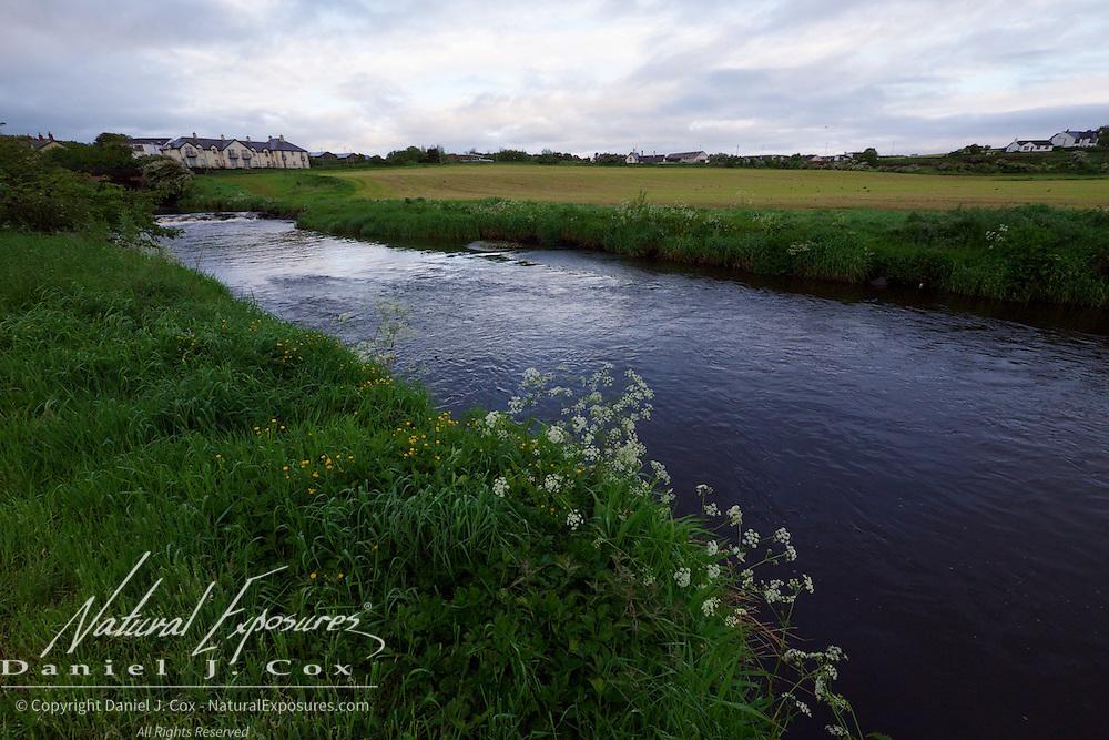A small stream runs nearby the Bushmills Inn, northern, Ireland.
