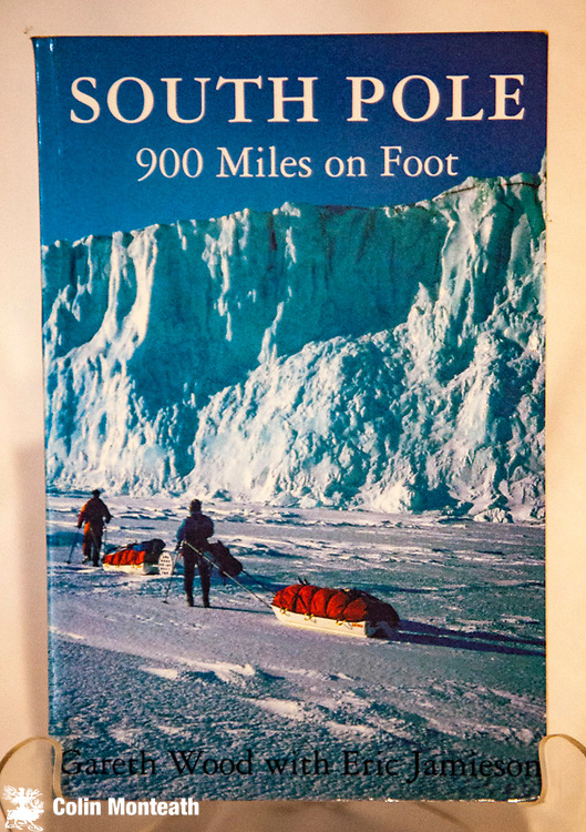 SOUTH POLE -  900 miles on foot, Gareth Wood with Eric Jamieson, Horsdal & Schubart, Victoria, Canada, 1996, this copy signed by Steve Broni, member of In the Footsteps of Scott expedition 1984-86 - VG+ Gareth Wood was the third member of the trip that skied from Cape Evans to the South Pole after a winter at cape Evans...and then, their troubles began...a very interesting perspective on the Swan & Mear account - uncommon ( Arnold Heine collection) $65