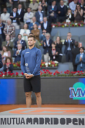 May 13, 2018 - Madrid, Madrid, Spain - DOMINIC THIEM second place in Mutua Madrid Open 2018 - ATP. The final match was against ALEXANDER ZVEREV. ALEXANDER ZVEREV won the match 6-4 6-4. (Credit Image: © Patricia Rodrigues via ZUMA Wire)
