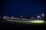 WASHINGTON, USA - September 15: The race track and horse arena are quiet in the evening at The Great Frederick Fair in Frederick, Md., USA on September 15, 2017.