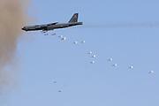 B-52 dropping 500-lb bombs