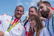 "Rio de Janeiro. BRAZIL.   CRO M1X Silver Medalist. Damir MARTIN.  2016 Olympic Rowing Regatta. Lagoa Stadium,<br /> Copacabana,  ""Olympic Summer Games""<br /> Rodrigo de Freitas Lagoon, Lagoa.   Saturday  13/08/2016 <br /> <br /> [Mandatory Credit; Peter SPURRIER/Intersport Images]"