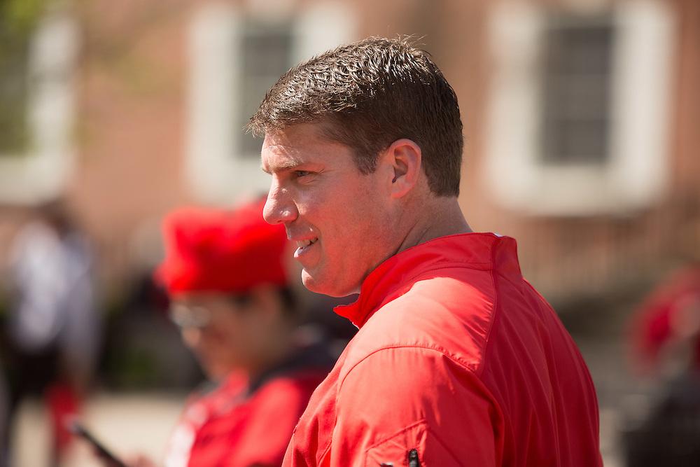 Portrait of Rutgers football coach Chris Ash. 4/30/16  Photo by John O'Boyle