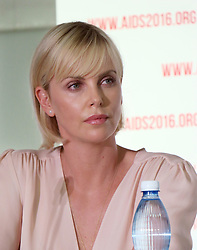 July 18, 2016 - Durban, South Africa - South African actress Charlize Theron speaks at a press conference at the World AIDS Conference in Durban, South Africa, 18 July 2016. At the World AIDS Conference, researchers, activists, and government representatives are looking for ways to defeat the deadly immuno-deficiency virus for good by 2030. Photo:JUERGANBAETZ/dpa (Credit Image: © JüRgen BäTz/DPA via ZUMA Press)