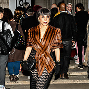 Samira Ebrahimi is a Boutique Fashion Designer attend Fashion Scout LFW AW19 Day 1 at Freemasons' Hall, London, UK. 15 Feb 2019