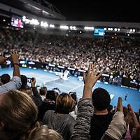 Fans on day eleven of the 2017 Australian Open at Melbourne Park on January 26, 2017 in Melbourne, Australia.<br /> (Ben Solomon/Tennis Australia)