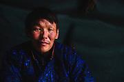A portrait of a Tsaatan man in the northern province of Khovsgol, Khovsgol, Mongolia