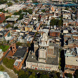 Aerial view oThe United States Custom House