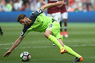 Adam Lallana of Liverpool in action. Premier league match, West Ham Utd v Liverpool at the London Stadium, Queen Elizabeth Olympic Park in London on Sunday 14th May 2017.<br /> pic by Steffan Bowen, Andrew Orchard sports photography.