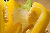 Sweet yellow bell pepper sliced