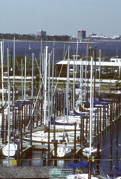 1984 Seabrook Marina with Hilton and NASA in background