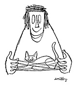 (A cat's cradle - with a cat in it)