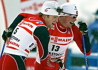 ◊Copyright:<br />GEPA pictures<br />◊Photographer:<br />Doris Hoefler<br />◊Name:<br />Moan<br />◊Rubric:<br />Sport<br />◊Type:<br />Ski nordisch, Langlauf<br />◊Event:<br />FIS Nordische Ski-Weltmeisterschaft, WM 2005, Nordische Kombination, Sprint<br />◊Site:<br />Oberstdorf, Deutschland<br />◊Date:<br />27/02/05<br />◊Description:<br />Magnus Moan, Kristian Hammer (NOR)<br />◊Archive:<br />DCSHO-2702054896<br />◊RegDate:<br />27.02.2005<br />◊Note:<br />8 MB - MP/WU - Nutzungshinweis: Es gelten unsere Allgemeinen Geschaeftsbedingungen (AGB) bzw. Sondervereinbarungen in schriftlicher Form. Die AGB finden Sie auf www.GEPA-pictures.com.<br />Use of picture only according to written agreements or to our business terms as shown on our website www.GEPA-pictures.com.