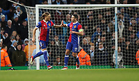 Football - 2017 / 2018 UEFA Champions League - Round of Sixteen, Second Leg: Manchester City (4) vs. FC Basel (0)<br /> <br /> Michael Lang of FC Basel  celebrates scoring the winner at The Etihad.<br /> <br /> COLORSPORT