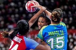 05-12-2019 JAP: Cuba - Slovenia, Kumamoto<br /> Fourth match groep A at 24th IHF Womenís Handball World Championship. Slovenia win 39 - 26 of Cuba / Yunisleidy Camejo Rodriguez #11 of Cuba
