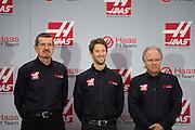 September 29, 2015: Guenther Steiner, Haas F1 Team principle, Romain Grosjean, Gene Haas, Haas Formula 1 team.