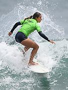 Taranaki's Paige Hareb.<br /> Finals of the Surfing New Zealand National Championships 2021. Piha Beach, Auckland, New Zealand. Saturday 16 January 2021.<br /> © image by Andrew Cornaga / www.Photosport.nz