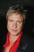 """DURAN DURAN LAUNCH THEIR NEW ALBUM """"ASTRONAUT"""", SYDNEY, AUSTRALIA 23rd AUGUST 2004-duran duran..simon le bon.PICS : PAUL LOVELACE"""