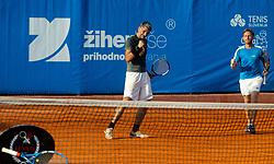 Marko Lopatic and Tone Komar during Tennis tournament of Slovenian Recreational players, on August 16, 2020 in SC Marina, Portoroz / Portorose, Slovenia. Photo by Vid Ponikvar / Sportida