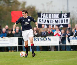 Falkirk's Murray Wallace..Annan Athletic 0 v 3 Falkirk. Semi Final of the Ramsdens Cup, 9/10/2011..Pic © Michael Schofield.