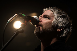 © Licensed to London News Pictures . 14/02/2013 . Manchester , UK . John Bramwell on stage . I Am Kloot perform at the Ritz in Manchester . Photo credit : Joel Goodman/LNP