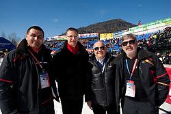 Jure Zerjav, Igor Luksic, Janez Kocijancic and Boris Pesjak during  Men's Giant Slalom of FIS Ski World Cup Alpine Kranjska Gora, on March 5, 2011 in Vitranc/Podkoren, Kranjska Gora, Slovenia.  (Photo By Vid Ponikvar / Sportida.com)