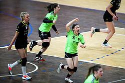 Lana Strlic of RK Olimpija celebrates during handball match between RK Olimpija and RK Krim Mercator in Round #13 of National Youth League in Season 2020-21, on May 23, 2021 in Hala Tivoli, Ljubljana, Slovenia. Photo by Matic Klansek Velej / Sportida
