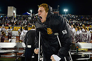 Simi Valley's Brandon Simpson cheers on his teammates in the fourth quarter of the CIF-Southern Section Division 10 championship against Crescenta Valley at Simi Valley High School on Nov. 29 2019.